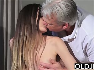 elder and youthfull pornography - nanny vagina drilled by old man