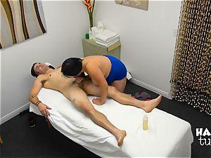 Hidden camera massage sofa sex