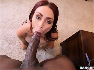 Monique Alexander feasts on a thick spunk-pump