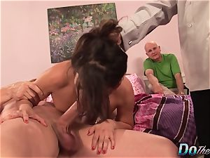 hotwife spouse Helps wife Mariah Silver as She bj's and romps a ample lollipop