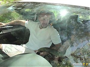 Hopeful driver Sara Luvv romps her driving professor