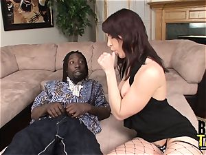 Dana fucks enormous ebony pink cigar in Her widely opened crevice