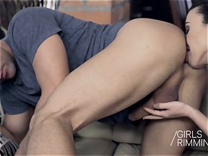 GIRLSRIMMING - A pecker For Breakfast anal butt licking
