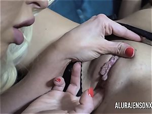 Alura and her buxomy lesbian mate Dolly get insatiable
