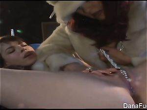 Dana DeArmond gets her muff toyed with