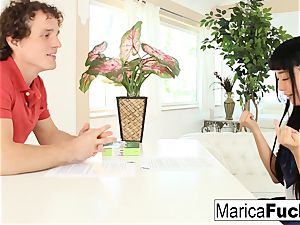 Marica gets an English lesson with a giant manmeat twist