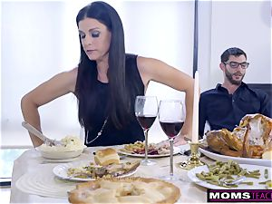 mother screws son-in-law And slurps internal ejaculation For Thanksgiving handle