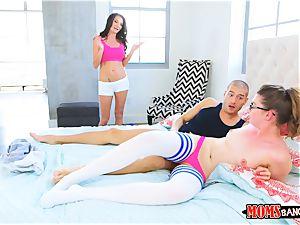 naughty 3 way with super-steamy dark haired mummy and nubile Silvia Saige and Elena Koshka