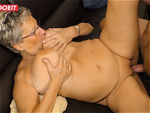 German granny enjoys pounding her Neighbor #LETSDOEIT