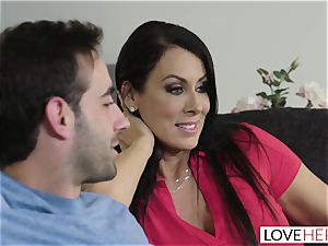 LoveHerFeet - Stepson drills His Stepmom On The bed