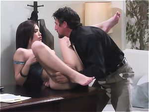 Latina gets boned like a rag in her office