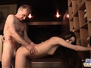 nubile pulverized elderly fellow dick seduced him drank his spunk