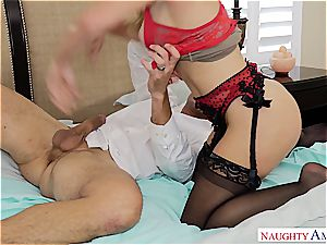 Cherie needs her bosoms creamed by a taught dude