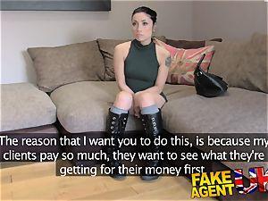 FakeAgentUK Agent gives puny web web cam student cum shot