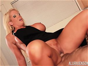 Alura Jenson gets porked by giant muscle fellow Zeb Atlas
