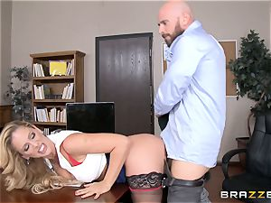 mummy manager Cherie Deville gets shafted by a hefty dicked worker