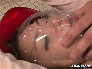 urinate gulping chinese is roped and violently pulverized