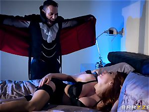Veronica Vain is plowed by a fantastic vampire fuck-stick
