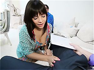 Housewife gets banged in front of unsighted spouse