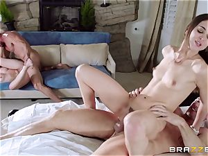 Riley Reid and Dakota James fucked by each others dads