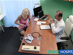 FakeHospital ash-blonde patient frolicking with her puss