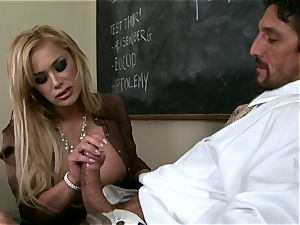 sausages gargling Shyla Stylez crunches a enormous huge rock-hard man-meat with pleasure