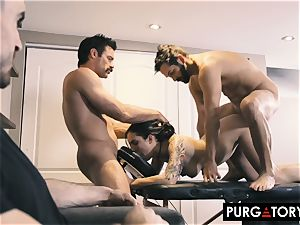 PURGATORY I let my wifey penetrate 2 guys in front of me