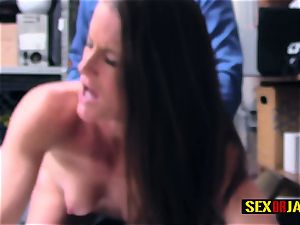 nubile Sofie gets her tunnel of love nailed hard by nasty officer