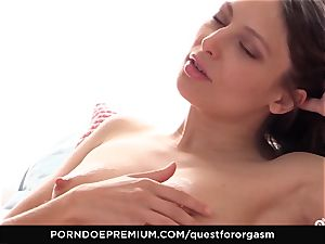 QUEST FOR ejaculation Talia Mint in voluptuous masturbation