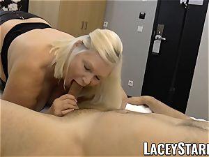 LACEYSTARR - GILF creampied by a fortunate customer