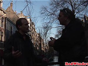 Creampied dutch prostitute entertains tourist