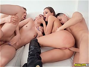 molten chick on doll act turns into even hotter group penetrate