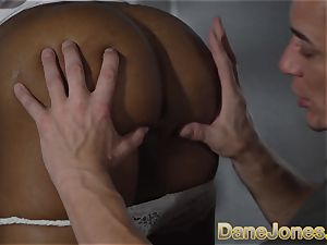 Dane Jones ebony brit honey suck and boinked
