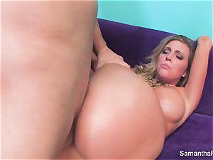 Samantha Saint gets her tight pink gash ravaged