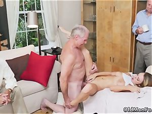 aged ash-blonde milf humps youthful damsel first-ever time Molly Earns Her Keep