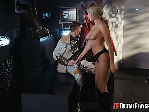 Monster lollipop craving space hotties Athena Palomino and Carly Rae