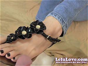 Lelu Love-Sandals dark-hued ravages Footjob