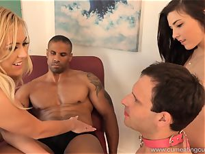 Summer Day Makes hubby clean cum Off Her scorching bod