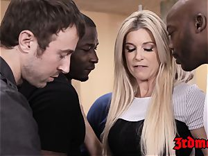 tutor India Summer fed cum after IR gang-bang