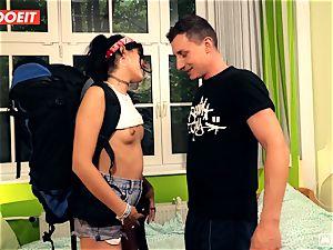 LETSDOEIT - kinky Traveler boinks fortunate German In Hostel