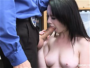Athena Rayne bashed in the clitoris cooter by dangled security guard