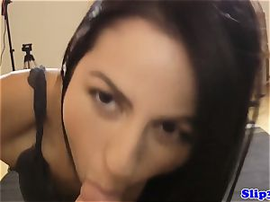 Tall eurobabe deep-throats geriatric at casting