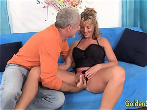 Mature Sky Haven and her mature buddy tear up