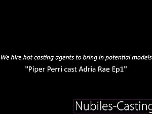 Piper Perri casts first time gonzo for tiny nubile