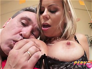 cougar Alexis Fawx busts All Over Steve's thick prick