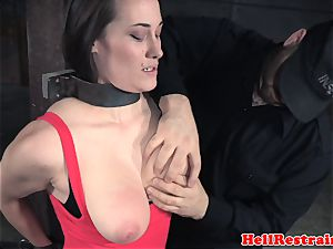 huge-chested servant babe abased and toyed