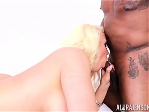 beaver wedged Alura Jenson by big ebony fuck-stick and white fellow