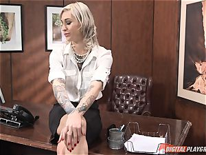 Kleio Valentien poked in the office