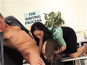 tutors London Keyes and Jade Nile pulverize a schoolgirls daddy