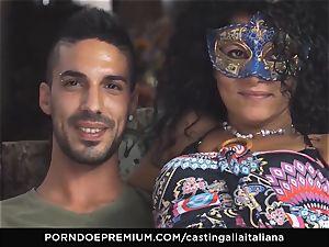 casting ALLA ITALIANA amateur splatters in rectal fuck